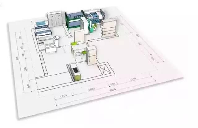 30平破旧出租屋神逆袭,打造5口之家的温馨公寓_9