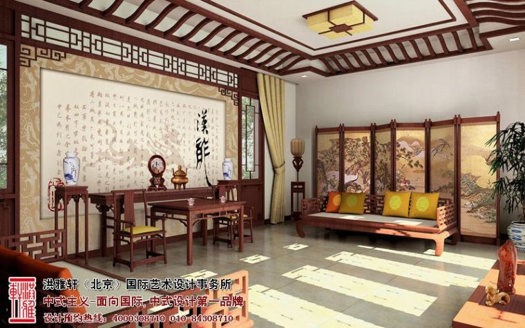 观塘别墅中式装修案例,品位古典高雅的审美格调_3
