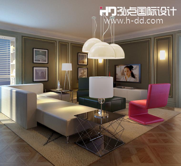 #我的年度作品秀#奢华公寓之彩色欧式_6