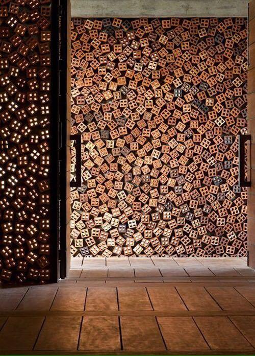 砖的艺术,看看如何把砖赋予艺术性的用在建筑上?_10