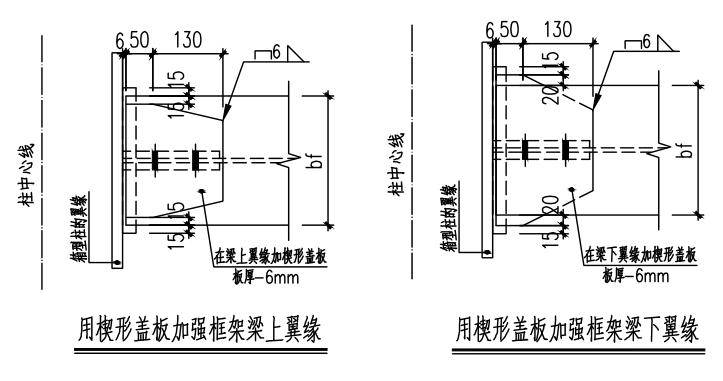 钢结构梁柱节点构造详图