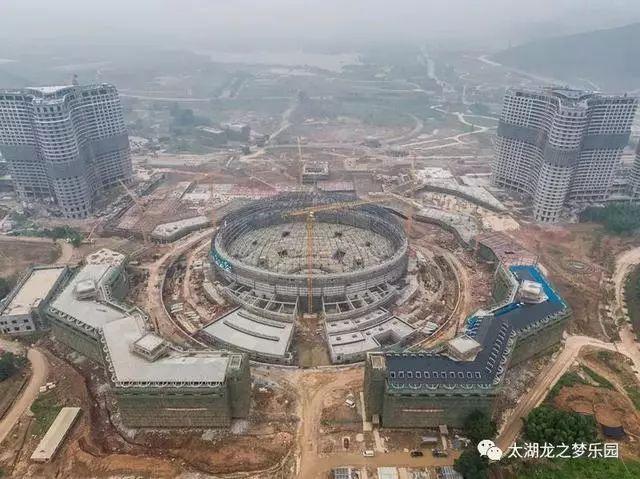 太湖龙之梦乐园大马戏城完成钢结构封顶