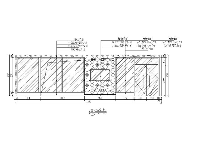 混搭风格茶餐厅设计CAD施工图(含效果图)_7