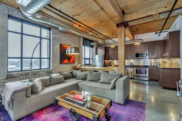 工业风公寓装修引领2018北美最in室内设计!