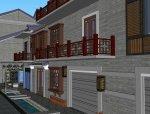 月光林地中式风格商业街建筑设计(su模型)