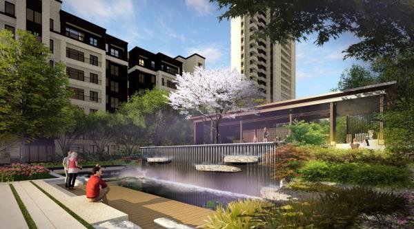 [江苏]城市母亲河高端豪宅景观设计全套图纸(方案文本+施工图+SU模型+实景图)