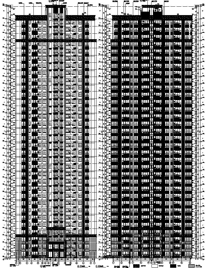 [安徽]10栋全专业高层塔式住宅及商业施工图(含车库人防设计)