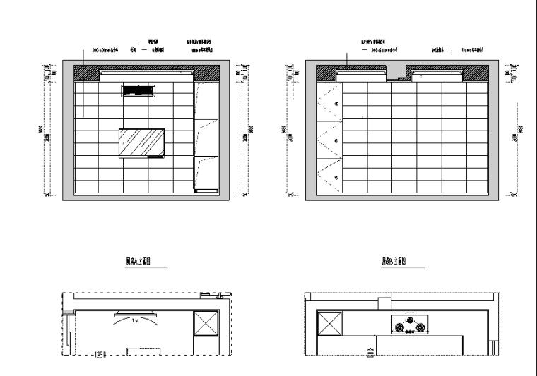 万科金域榕郡别墅设计施工图(附效果图)