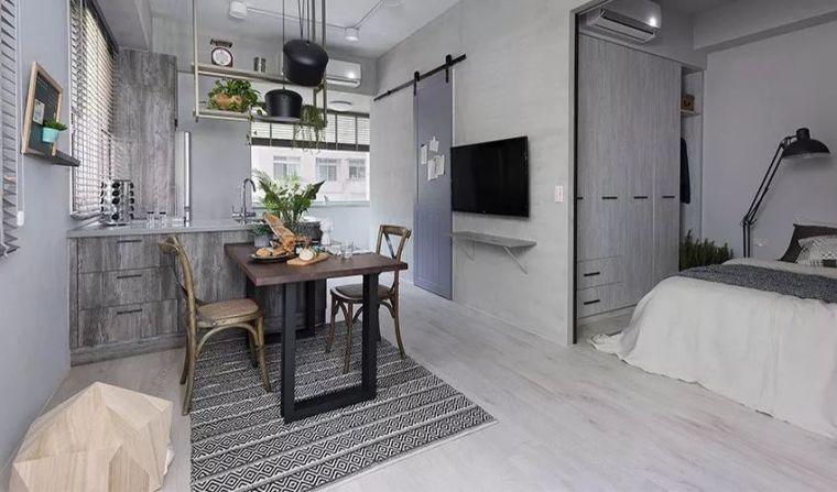 有了这40㎡的单身公寓,只想宅在家里撸猫_1