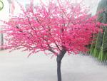 粉红色的浪漫世界——仿真桃花树