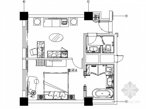[陕西]某豪华酒店套房室内装修施工图