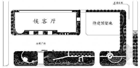 某高客站广场绿地景观规划图
