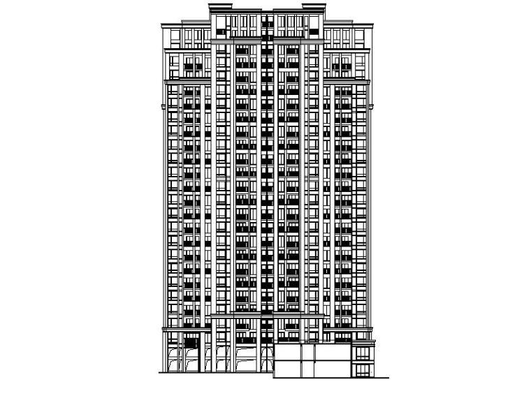 [浙江]高层塔式含跃层住宅楼建筑施工图