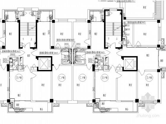 [吉林]小区高层商品房给排水及采暖施工  图(甲级设计)