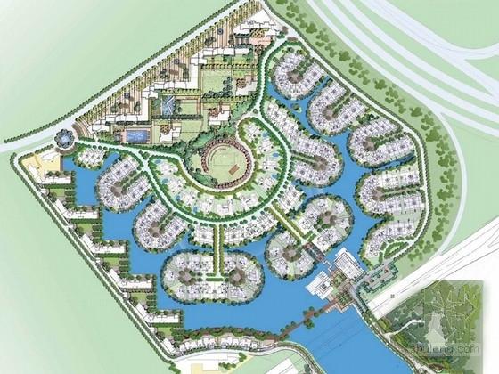 [广东]南加州风情居住区景观概念规划设计方案(知名设计机构)
