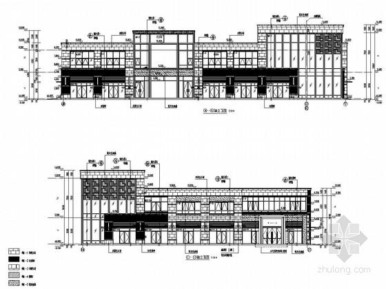 2300平两层框架结构售楼处结构施工图(含建筑图)