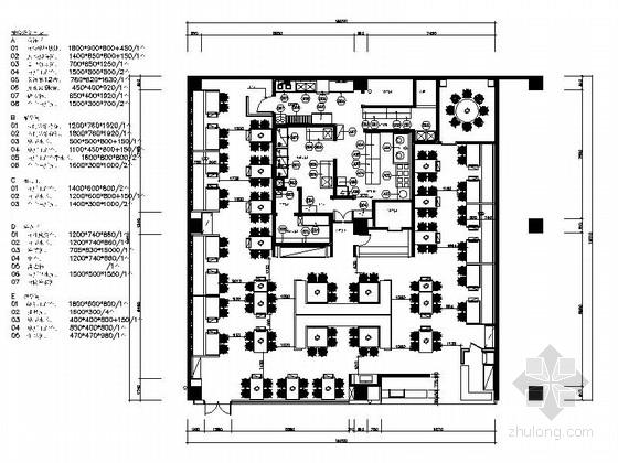 [厦门]温馨时尚特色餐厅室内装修施工图(含效果)