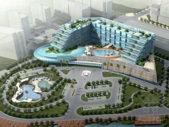 [安徽]现代风格错层式构架商务酒店建筑设计方案文本(含CAD)