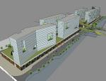 商业综合建筑SketchUp模型下载