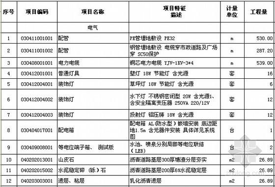 [杭州]2015年小学校园提升改造工程量清单计价实例
