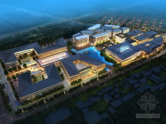 [西安]院落空间式多层商业及酒店综合体建筑设计方案文本