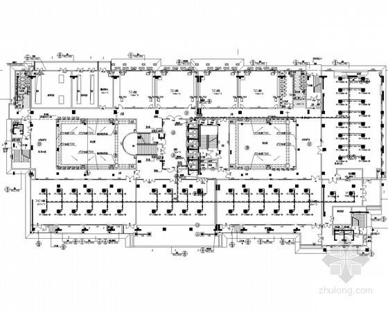 [辽宁]学校教学楼空调系统设计施工图(风冷热泵)