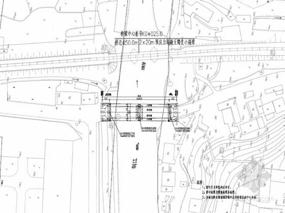 [四川]2×20米装配式预应力混凝土简支小箱梁桥施工图48张(扩大基础)
