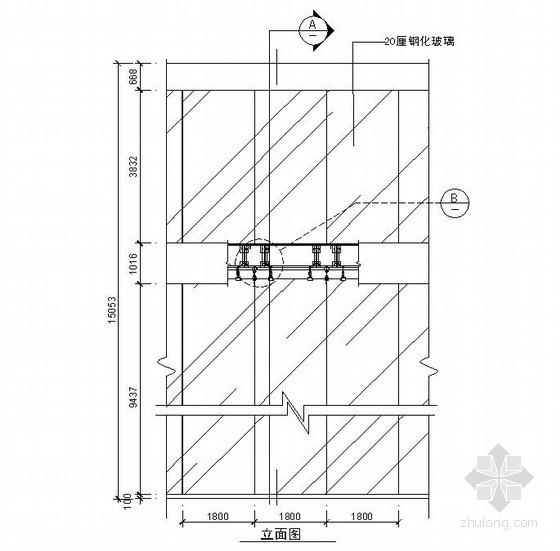 某吊挂式玻璃幕墙(四)节点详图