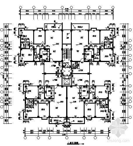 宜宾某小区2号住宅楼建筑结构施工图-2