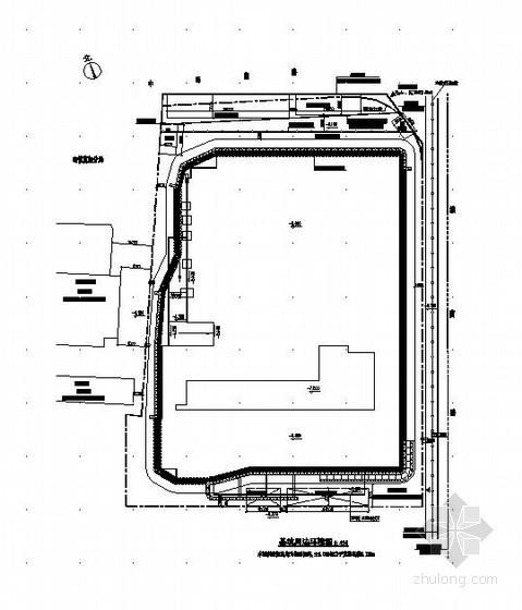 [浙江]办公大厦地下车库深基坑设计方案(CAD)
