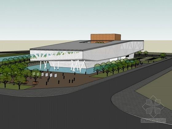 城市规划展览馆设计方案sketchup模型