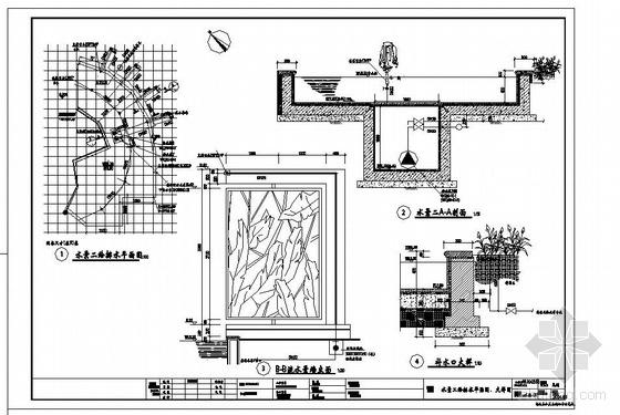 某喷泉水景给排水施工详图