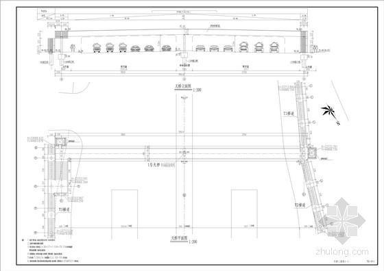 78米连续钢箱梁人行天桥全套施工图(62张)