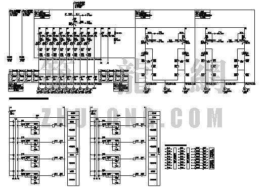中央空调水系统配电及控制原理图一