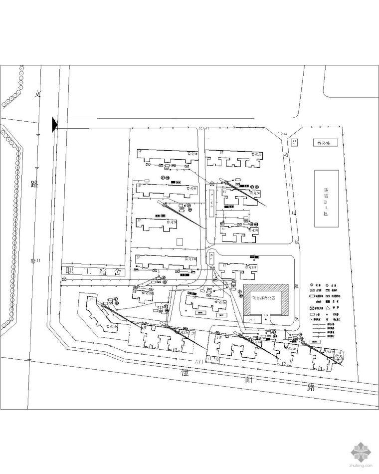 某工程施工现场总平面布置图