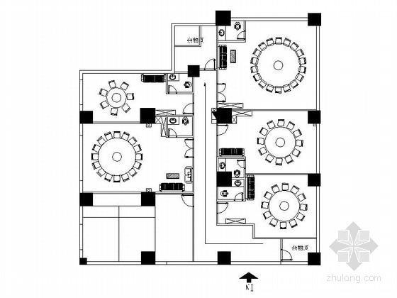 [重庆]全国连锁品牌典雅火锅店装修施工图(含效果)