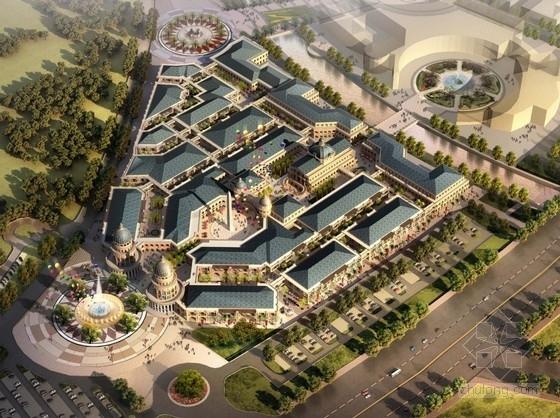 [安徽]新羅馬風格商業街規劃及單體建筑設計方案文本
