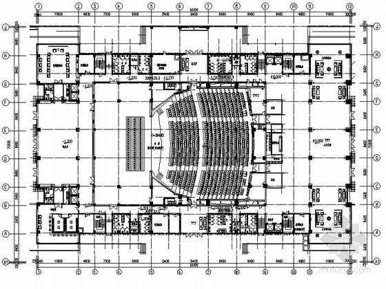 [江苏]某博览会会议中心室内装修施工图(含效果)