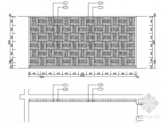 [成都]地级市典雅中式风格酒店室内装修施工图大厅立面图