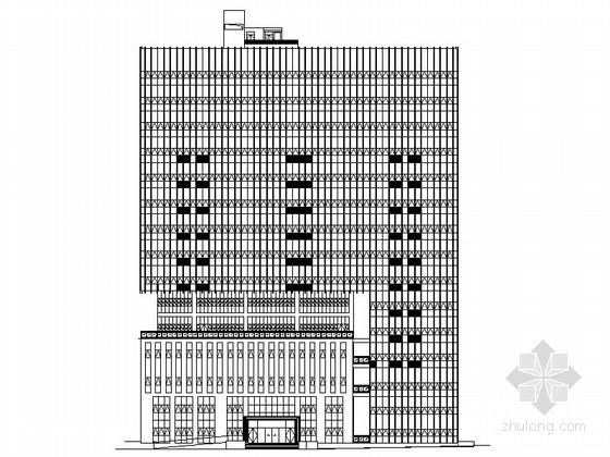 [深圳]某十二层办公楼建筑施工图