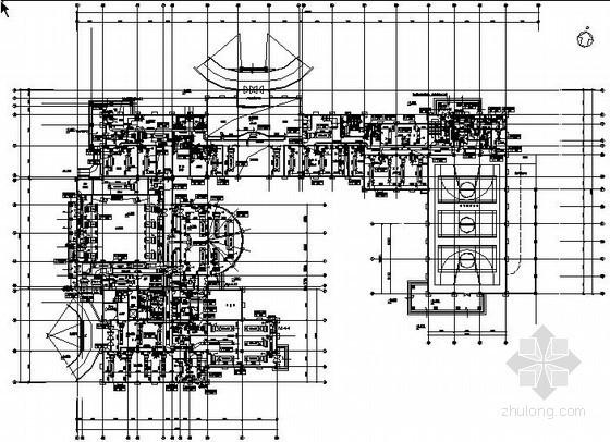 某办公综合楼空调设计施工图(办公用房、康乐设施、客房、餐饮,体育馆)