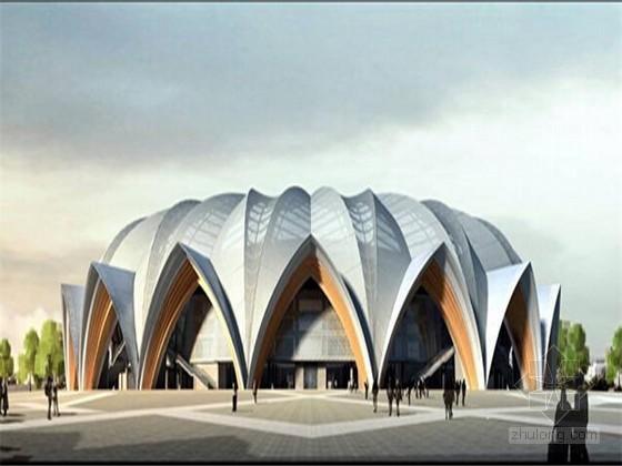[宁夏]大型钢结构体育场屋面罩棚安装方案(78页 多图)