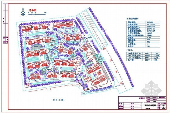 浙江某5万平米住宅施工合同及平面图