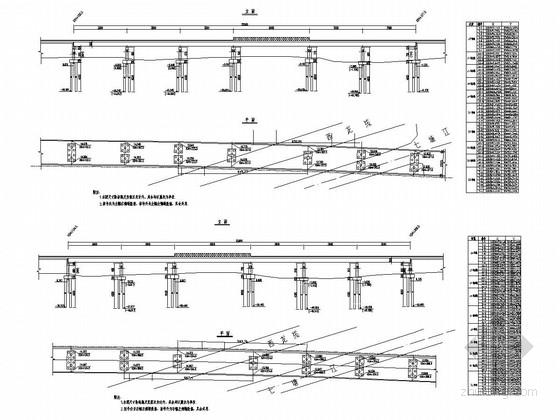 孔跨35、50m分离式连续梁立交桥全套施工图(75张)