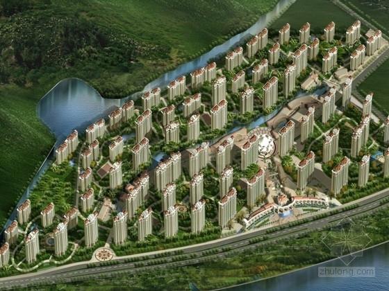 [福州]某欧式住宅区规划及单体设计方案文本(含CAD)