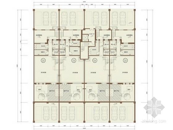 [沈阳]某五层花园洋房户型平面图(240-250平方米)