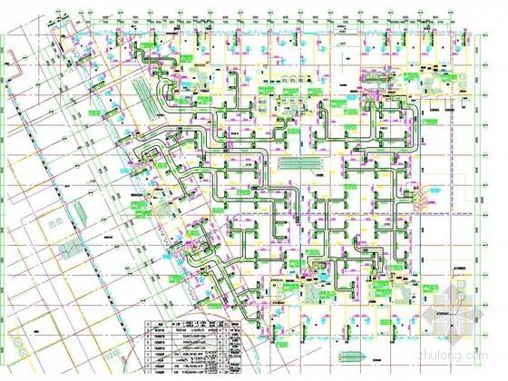[河北]高层商业办公楼空调通风及防排烟系统设计施工图(人防设计 采暖设计)
