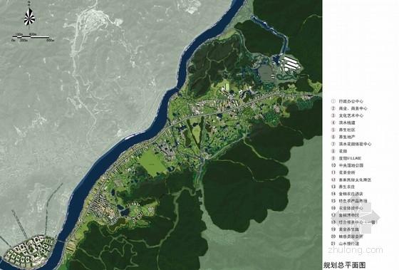 [广东]特色文化旅游片区规划设计方案文本-特色文化旅游片区总平面图