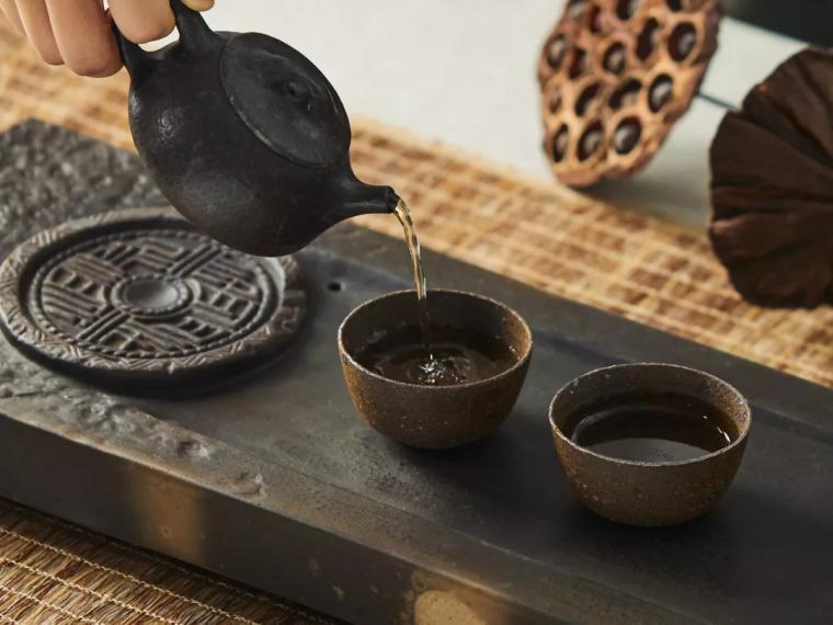 仿古建筑砖瓦设计的茶器,雅!
