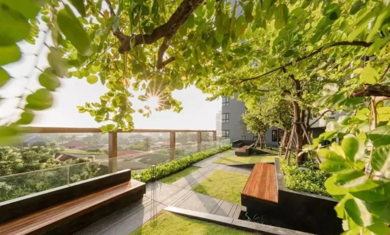现代屋顶花园设计赏析_4